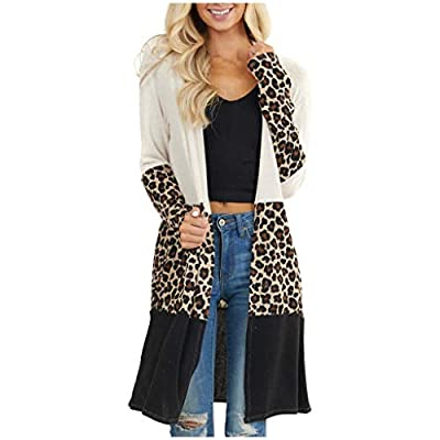 Amazon - Save 80%: Women's Long Sleeves Open Front Leopard Print Knitted Sweater Cardigan…
