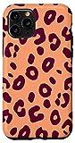 iPhone 11 Pro Purple Jam Peach Leopard Cheetah Print Animal Pattern Case