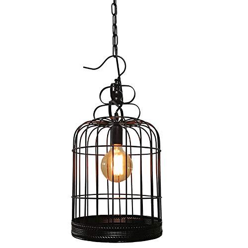 JAQ Kreative Retro Vogelkäfig-Pendelleuchte Schmiedeeisen Hängeleuchte Loft Jahrgang industrielle Kronleuchter für Restaurant Bar Cafe Innen-Dekoration-Beleuchtung