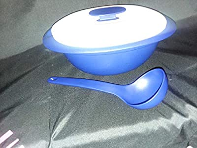 TUPPERWARE - Everyday Essentials (7.25 Cup/1.8l Liter) Covered Serving Soup Tureen Microwave Dish