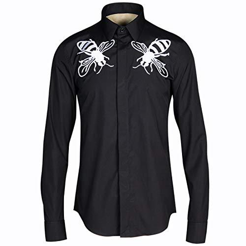 HOSD Nueva Camisa con Bordado de Abeja Grande para Hombre