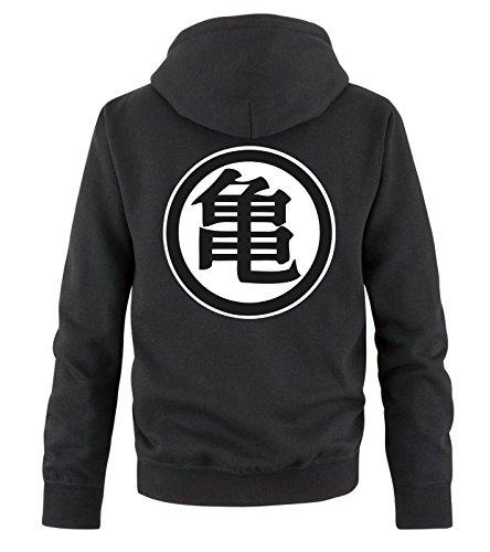 Comedy Shirts Sweat Shirt pour Hommes Son Goku - Sweat à Capuche pour Hommes Dragon Ball Z - Sweat pour Hommes avec Logo DBZ - Noir - Medium