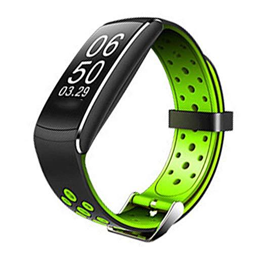 WJH9 Moda Pareja Inteligente Pulsera Deportes Reloj Bluetooth con recordatorio de Llamada entrante 24 Horas de atención médica múltiples Modos de Deportes Impermeable Universal,Verde