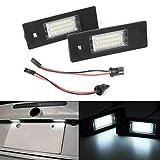MOLEAQI 2 Piezas LED Luces de matrícula Kit de lámpara Blanca Canbus sin Errores para B-MW 1 6 Serie...
