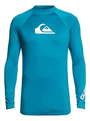 Quiksilver All Time Long Sleeve Rashguard Crystal Teal LG from Quiksilver