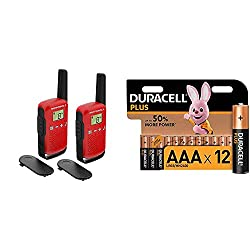 Product 1: LCD screen Yes Product 1: Keyboard lock Product 1: Channel monitoring Product 1: Model number: T42 RED Product 2: Everyone knows the endurance of the Duracell Bunny Product 2: POWER AND LONGEVITY: Duracell Plus AAA batteries provide reliab...