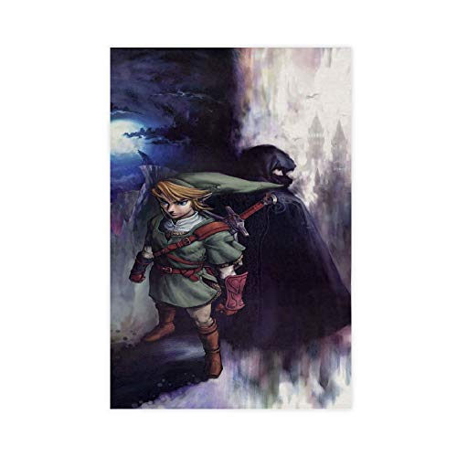 Póster retro de The Legend of Zelda para videojuegos de 30 x 45 cm
