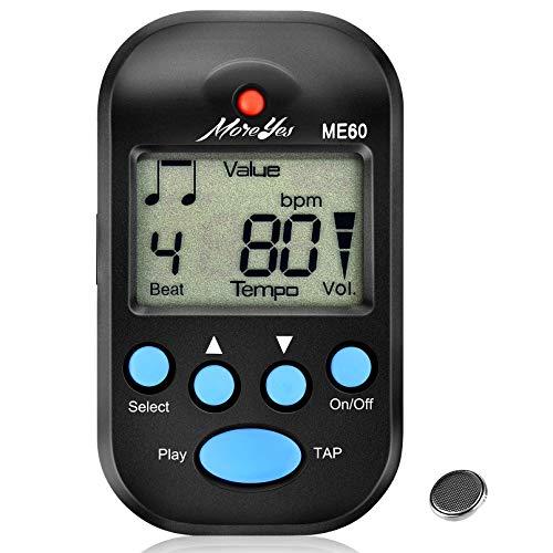 MOREYES Mini Metronome Digital with Loudspeaker Multi-functional for Saxophone Piano Guitar Violin Drum (black)
