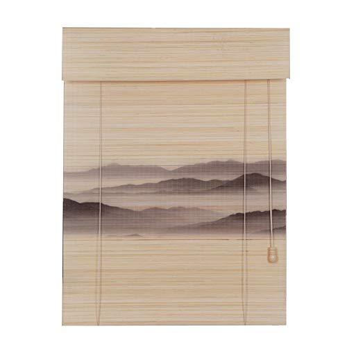 LIANGJUN Store Enrouleur Bambou Rideau Modèle Couper Résistant À L'usure Durable Étanche À La Poussière Salon Couloir, Personnalisable (Couleur : B, taille : 50x180cm)
