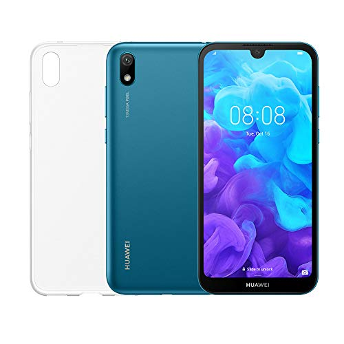 "Huawei Y5 2019 (Blu) più cover trasparente, Telefono con 16 GB, Display 5.71"" HD+, Processore Quad Core [Versione Italiana]"