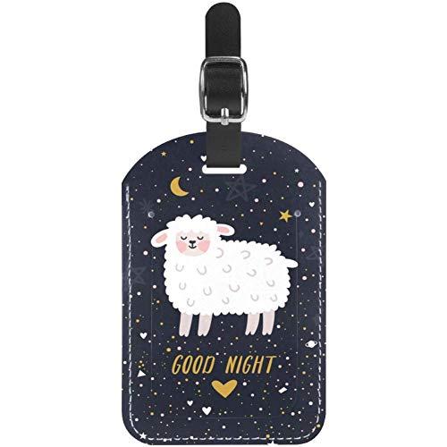 TIZORAX Etiquetas de equipaje de buena noche Llama en piel cielo estrellado etiquetas de maleta de viaje 1 paquete