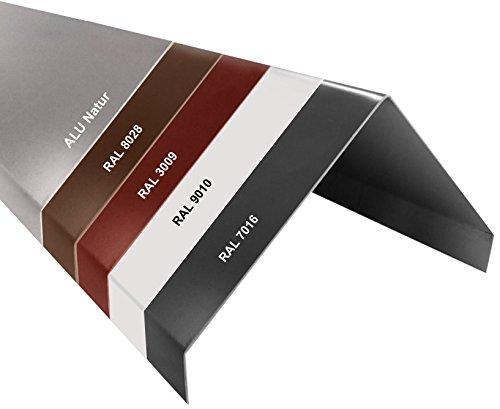 Aluminium Firstblech Winkelblech Dachblech Gratblech 13,0/0,8mm 1000mm Blank