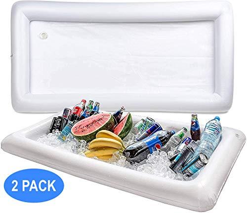 Bramble Opblaasbare koelbak, zwembadbar, drankhouder, houdt je salades en dranken ijskoud, feestjes, binnen en buiten, inclusief afvoerstop voor eenvoudig legen