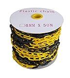 SNS SAFETY LTD Cadena de plástico negro y amarillo de 6 mm 50,0 metros...