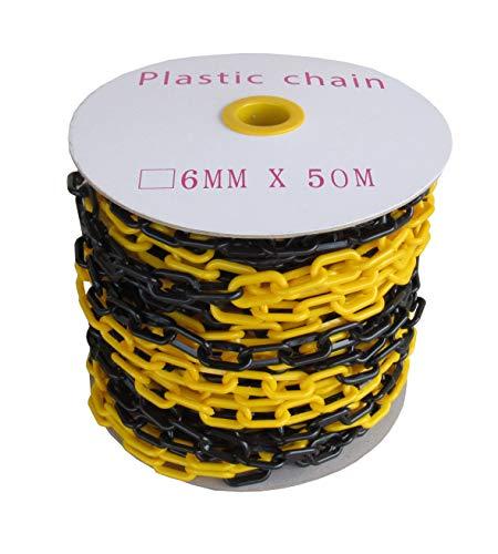 SNS SAFETY LTD Cadena de plástico negro y amarillo de 6 mm 50,0 metros