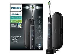 Philips Sonicare ProtectiveClean 4500 Elektrische Tandenborstel HX6830/53 - Geluidstandenborstel met 2 reinigingsprogramma's, drukregeling, timer & reiskoffer - Zwart*