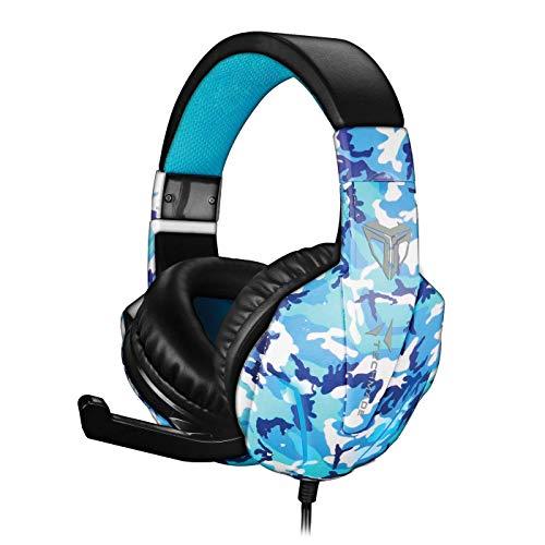 Techmade Gaming-Handschuhe, multifunktional, Camouflage, Blau
