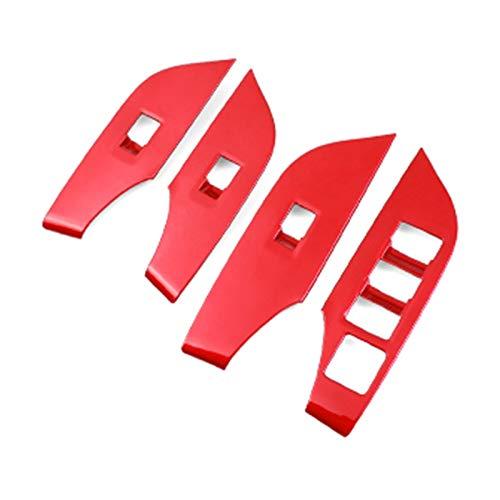 per Toyota RAV4 5th 2019 2020 Red Center Air Outlet Gear Head Panel Volante Finestra Litro Pannello Decroation Cover Trim (Color : Window Lifter Panel)