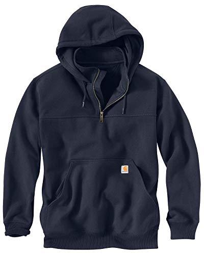 Carhartt Men's Rain Defender Paxton Heavyweight Hooded Sweatshirt, New Navy, X-Large