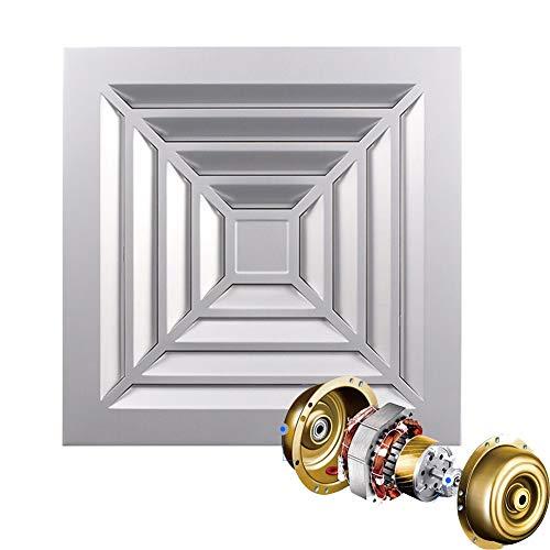 Ventilador Extractor de baño planet energy, silencioso y de bajo consumo, diámetro 300 S (300 mm), Panel de aluminio cepillado, 40W