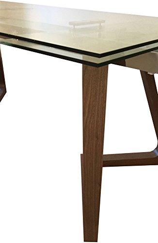 La Seggiola Tavolo allungabile in Cristallo - Grigna, 160 x 90 cm (240 Aperto) (Art. Gaudi