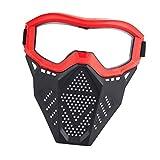 Máscara protectora profesional para jugar a paintball o airsoft, con pantalla transparente, táctica Máscara Protectora Máscara Militar de Media Cara táctica Máscara de Paintball para Hombres Airsoft