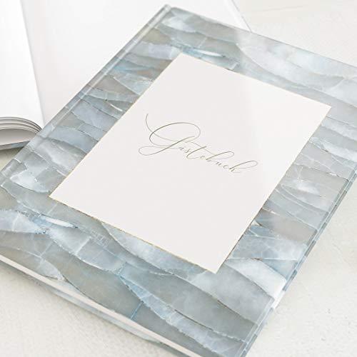sendmoments Gästebuch Restaurant Meerblick, als Geschenk zur Restauranteröffnung & für Gäste zum Einschreiben, 32 blanko-Innenseiten oder mehr, A4 Hochformat, Hardcover-Buch, edles Design