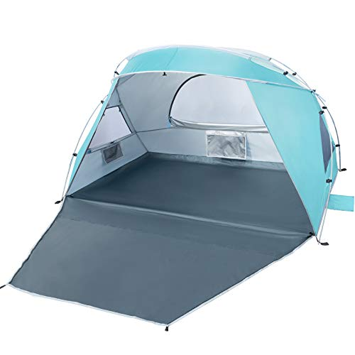Forceatt 2 und 3 Personen strandzelt,UV Schutz 50+ Sonnenschutz Beach Zelt, einfache Installation, leicht und leicht zu tragen, Strandcamping für Familie, Garten am Meer ist die erste Wahl