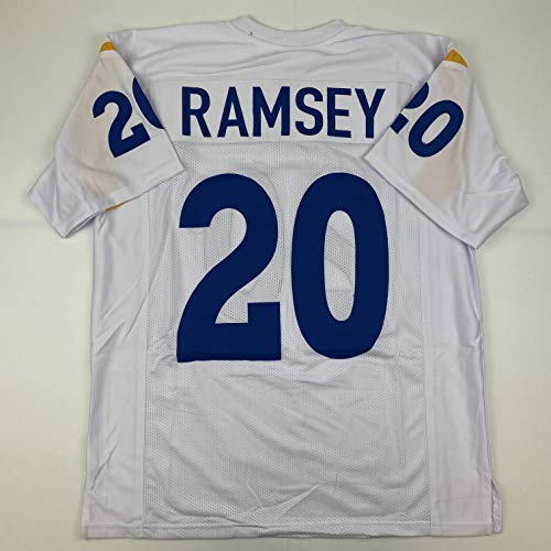 Unsigned Jalen Ramsey Los Angeles LA White Custom Stitched Football Jersey Size Men's XL New No Brands/Logos
