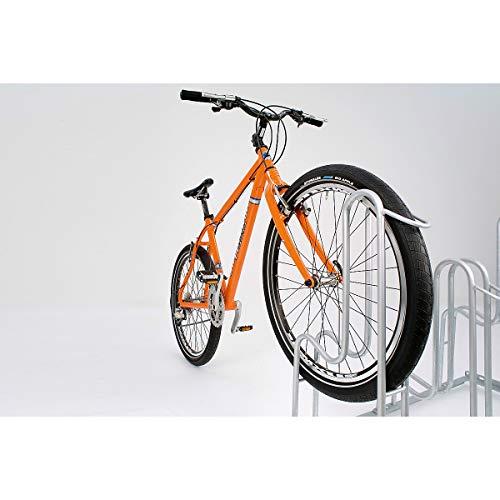 Fahrradständer - Bügelparker 4053 BR einseitig - 3 Einstellplätze - Reifenbreite bis 64 mm