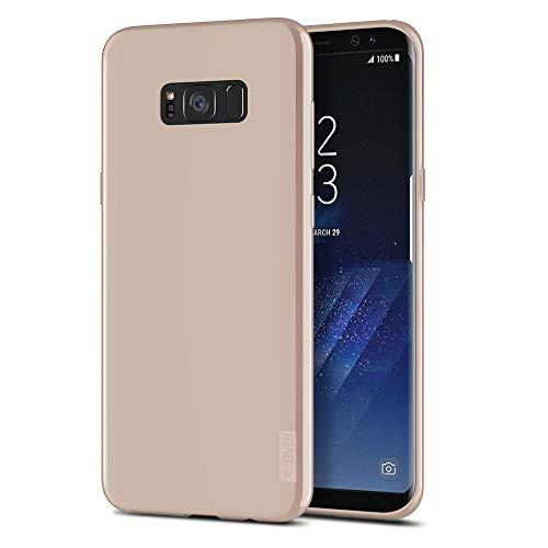 X-Level Samsung Galaxy S8 Hoesje, Anti-Kras TPU flexibel Siliconen Bumper Slim Hoes voor Samsung Galaxy S8 cover Case - Lichte koffie