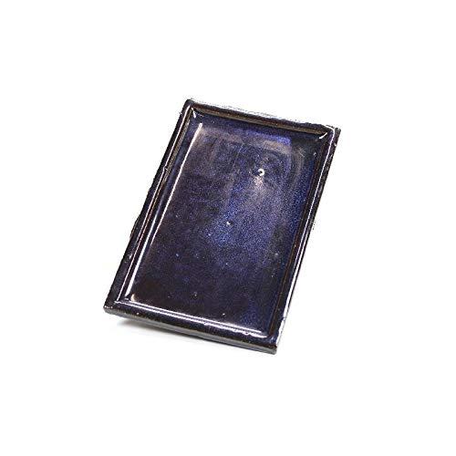PLATO PARA MACETA BONSAI 5 AÑOS - 14,4x9,5x2cm - Plato de Gres Rectangular Bonsai