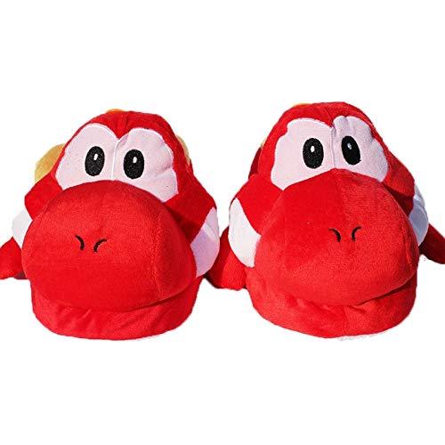 XINLIANG Dibujos Animados Peluche Zapatillas 28cm Super Mario Bros Yoshi Adult Zapatillas De Felpa Hogar Zapatos De Invierno Lindo Suave Stuffed Slipper Toys