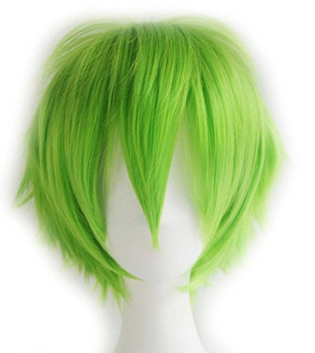 etruke Anime court vert Halloween pour femme Lolita Cosplay Perruques