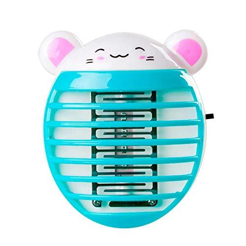 Muggenwerende lamp 1 Stks Kat Varken Panda Vorm Elektronische Muggendoder Lamp Anti Muggendood Trap Vlieg Insect Afstotend Huishoudelijke Bug Zapper-Kat Blauw_EU