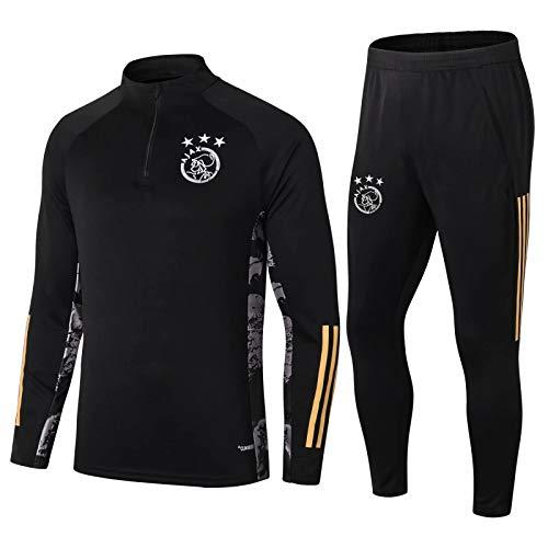 Znesd Tuta da Calcio Allenamento a Maniche Lunghe Aspetto Aspetto Team Suit Competition Training Suit - Ajax Football Training Tracksuit (Size : M)