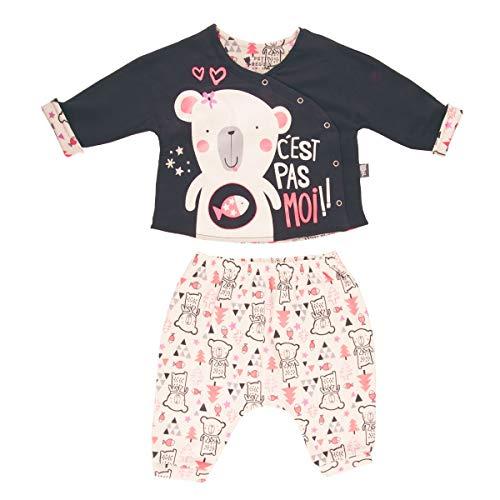 Ensemble bébé fille gilet double épaisseur + sarouel Lovebear - Taille - 36 mois (98 cm)
