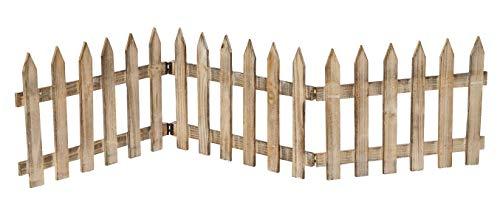 Deko-Zaun Holz-Zaun Jäger-Zaun 3 Zaunelemente a 40 cm zum klappen 30 cm hoch Vintage