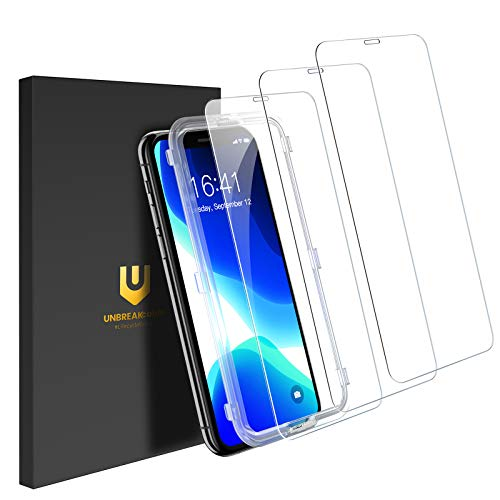 """UNBREAKcable Protector Pantalla para iPhone 11 Pro/iPhone X/iPhone XS [3 Piezas] - Cristal Templado iPhone 11 Pro/XS/X [Marco de Fácil Instalación] [ Sin Burbujas ] Vidrio Templado- 5.8"""""""