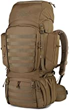 Mardingtop 60L Internal Frame Backpack Tactical Military Molle Rucksack for Camping Hiking Traveling with Rain Cover, YKK Zipper YKK Buckle Khaki-6226