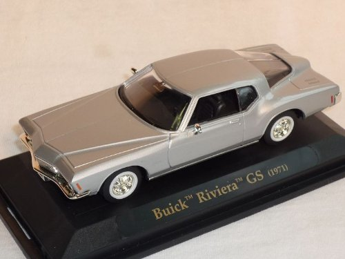 Bui-ck Riviera Gs 1971 Coupe Silber Oldtimer 1/43 Yatming Modellauto Modell Auto