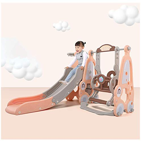 Slide Swing, 4 in 1 Toddler Mountaineering and Swing Set, Suitable for Indoor and Backyard Baskets 3-8 Years Old Kid Outdoor Play Toy UK Stock