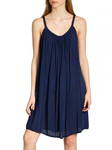 Caspar SKL010 Damen leichtes Baumwoll Sommerkleid, Farbe:dunkelblau, Größe:One Size