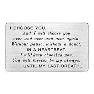 """Fits Perfectly In Any Wallet - Approximately credit card size 3.37""""x2.12""""x0.02"""", easy to put it in wallet High Quality Laser Metal - This cute engraved wallet inserts card is made with stainless steel which is sturdy and lightweight. Permanent Engrav..."""