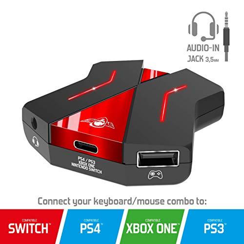 SPIRIT OF GAMER - Adaptador CROSSGAME 2 - Juega Al Teclado Y Al Ratón En Las Consolas De Videojuegos Gracias A Conversor : SWITCH / PS4 / PS3 / XBOX ONE - 1 X 3.5 Mm Jack Para Auriculares De Juegos