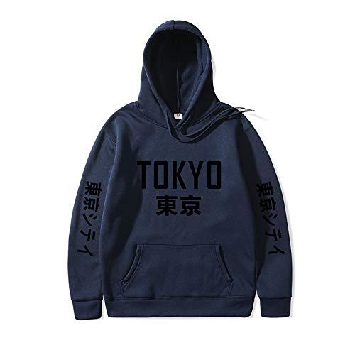 Harajuku Hoodies Tokyo City Druck Pullover Sweatshirt Hip Hop Streetwear Männer/Frauen Kapuzenpulli