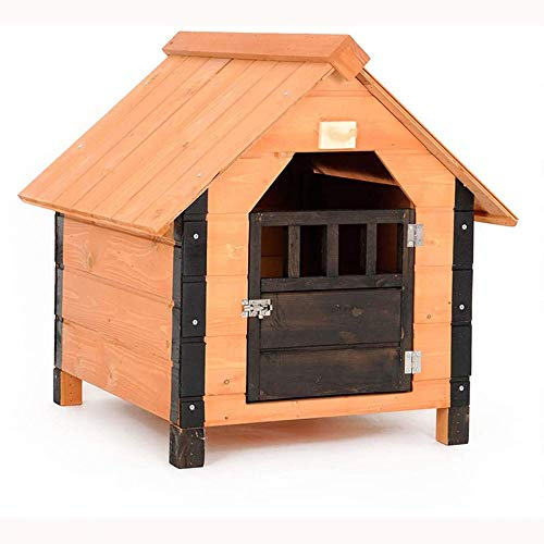 Extra Large Dog Houses Outdoor Dog House Outdoor Solid Wood Dog House Sturdy and Durable Windproof Kennel Outdoor Dog House Lockable J (Size : X-Large)