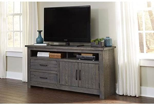 Progressive Furniture E636 64 Nest 64 Inch Console Distressed Dark Gray