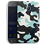 DeinDesign Premium Hülle kompatibel mit Samsung Galaxy Ace 4 Smartphone Handyhülle Hülle matt Tarnmuster Blau Men Style
