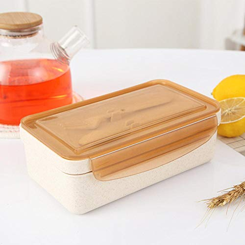 KIU Lunchbox met uitneembare scheidingswand voor kinderen, picknick magnetron, draagbare lunchbox